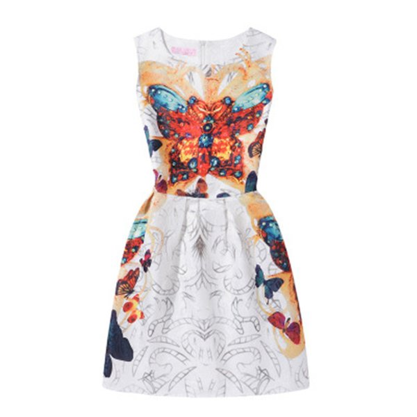 La nuova gonna elegante del A-line delle ragazze di arrivo per i vestiti del partito dei bambini Lolita sopra il pannello esterno adorabile dei vestiti floreali dal ginocchio libera il trasporto