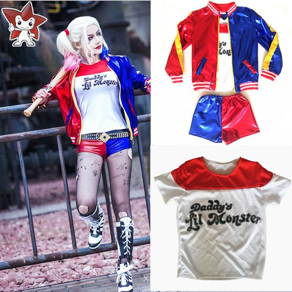 taglia 7 fabbricazione abile davvero economico Acquista Ragazze Bambini Suicide Squad Harley Quinn Costume Cosplay JOKER  Halloween Costume Da Regalo Bambini A $23.98 Dal Movearound   DHgate.Com