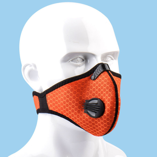 1 Pcs Cycling Face Mask Activated Carbon Dustproof Windproof Anti-fog Mask With Gas Filter Sports Outdoor Protective Filter 0.3
