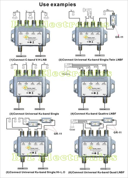 c band lnb circuit diagram ds42t sat cable rf signal splitter and satellite multiswitch  ds42t sat cable rf signal splitter and
