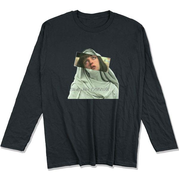 ef5b44f48 T Shirts PULP Addiction Pulp Fiction Quentin Movie Mia Wallace Funny T- Shirts Men Adult