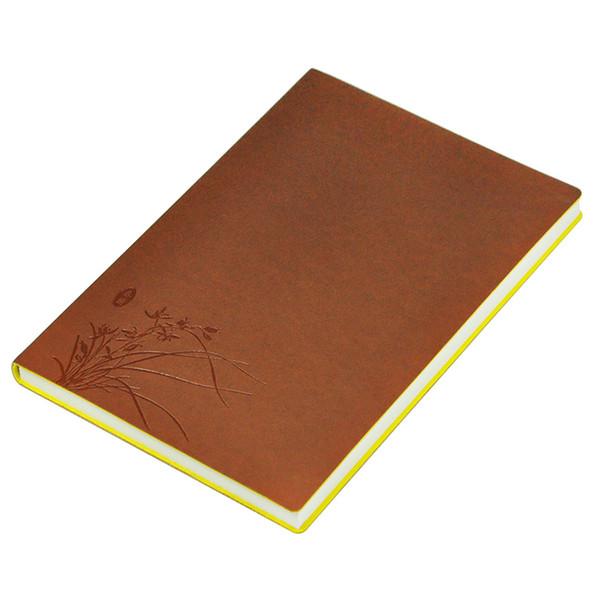 Toptan Orkide Kapak Sayfası Dizüstü Deri Dergisi Günlüğü Not Defteri Çalışma Kitabı