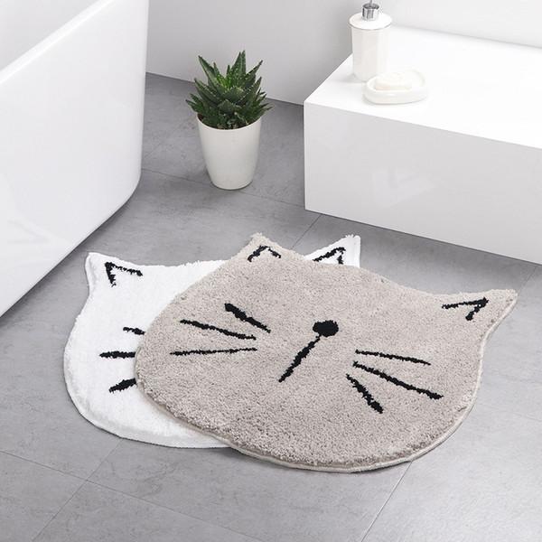 Fashion Kawaii Cat Welcome Floor Mats Cartoon Anti-Slip Bath Mats Carpets Door Floor Mat Cute Children Mat Home Living Room Decoration