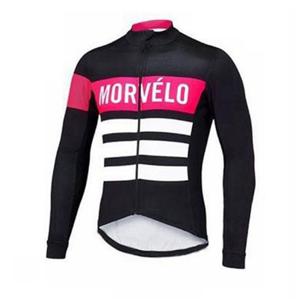 Morvelo team custom made Cycling long Sleeves jersey Men's comfortable and breathable outdoor sports mountain bike clothing S61314