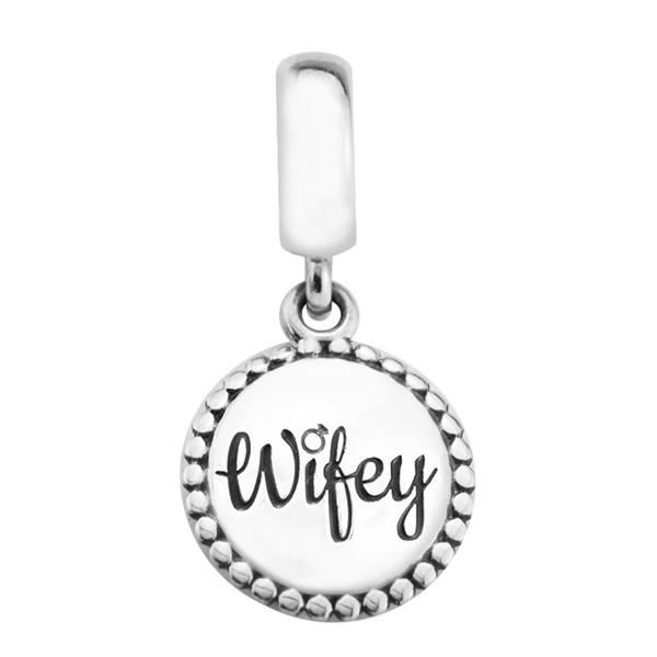 Wifey Charms Anhänger S925 Silber passt für Pandora Style Armband ENG791169_33 H8