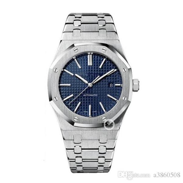 2018 Hohe qualität Gute Eine Uhr Für Männer Mode Klassischen Stil Edelstahlband Hohe Qualität Automatische Bewegung Armbanduhren Saphir