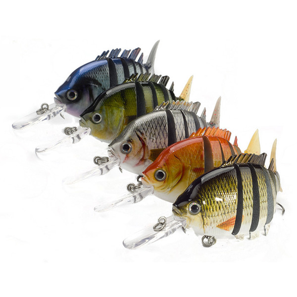 Crankbaits Fishing Wobblers Lures 10cm/13.5g 6 Segments Dive 0.6-2.2m Winter Pesca Hard Baits Swimbait 1pcs/lot