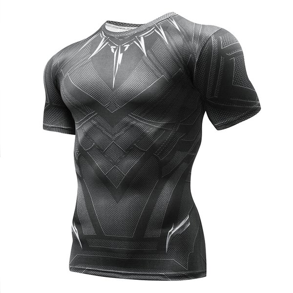 2018 MMAmarvel compression shirt fitness tights crossfit quick dry short sleeve t shirt Summer Men tee tops clothingS-4XL