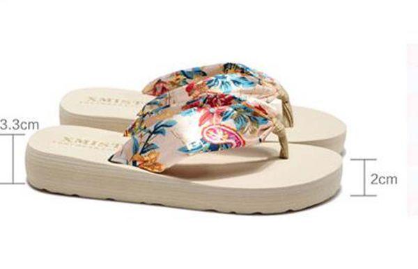 30pcs 2018 Summer Europe and US Bohemia silk fabrics cool slippers Women Beach Flip Flops sandals outside