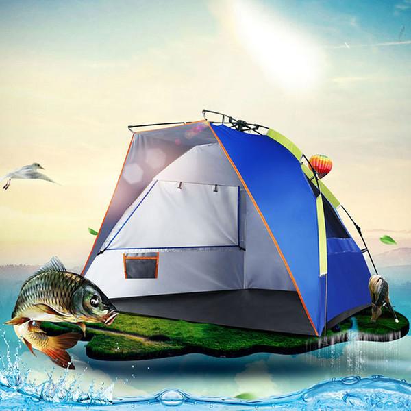 Verão 2 Pessoa Pesca Automática Barraca de Acampamento Ao Ar Livre Praia à prova d 'água Tienda Quick Open Pop Up Única camada Toldo Tendas ZP63