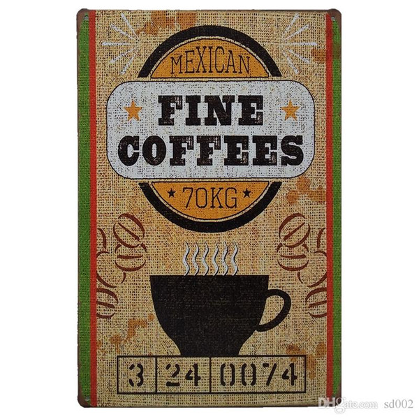 Exquisite Coffee Theme Tin Sign 20*30cm Homemade Apple Pie Tin Poster Beer Paris Cafe Iron Painting Easy Carry Small cc