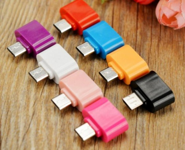 colorful mini Micro USB To USB 2.0 OTG Adapter for All Android Tablets and Smart Phones