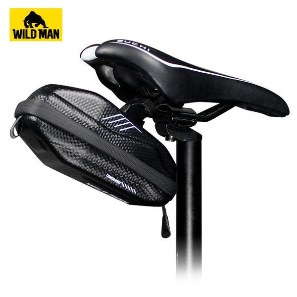 WILD MAN Super Light Bike Saddle Bag PU Materail Bicycle Seat Bag Waterproof MTB Road Bike Pouch Repair Tools Equipment