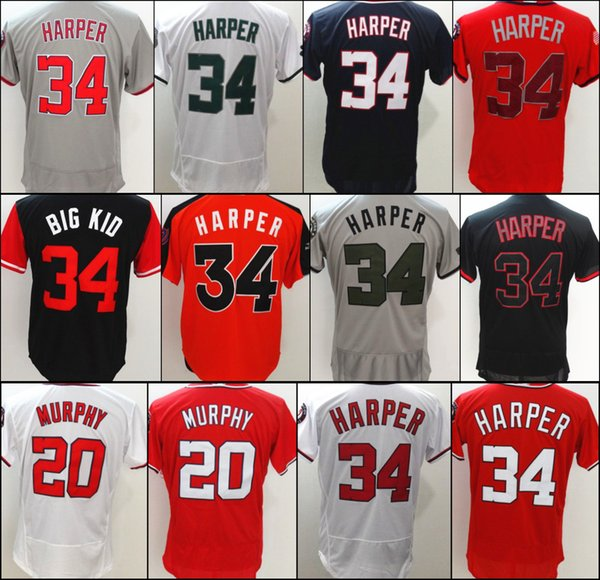 the best attitude ac59f 2f1c9 2018 Hot Sales Cheap Mens #34 Bryce Harper Jersey Stitched White Grey Red  Black S 3xl 20 Daniel Murphy Baseball Jersey From Nede902, $20.11 | ...