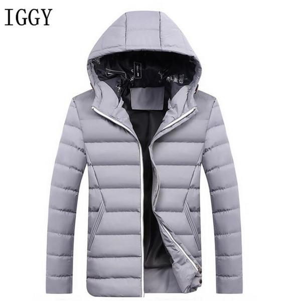Herren Großhandel Mantel Outwear Wintermantel Classic Mens Jacken Solid Warm IGGY Von Elizabethy Parka Kapuzenmantel Herren Padded Jacket Bequeme oerdxCB