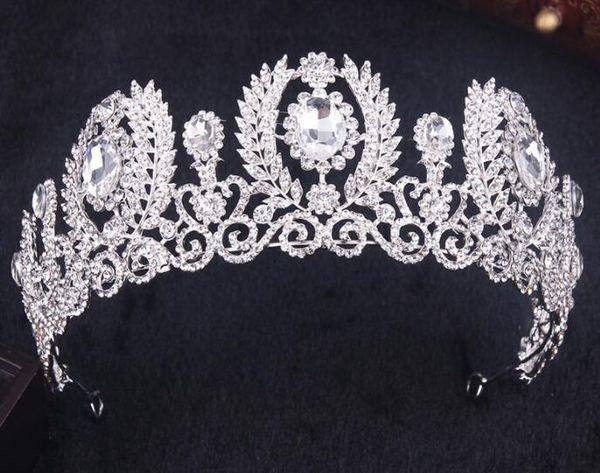 Невесты роскошные свадебные короны украшения корейский стиль новый алмаз жемчужина волос группа украшения красоты Конкурс корона