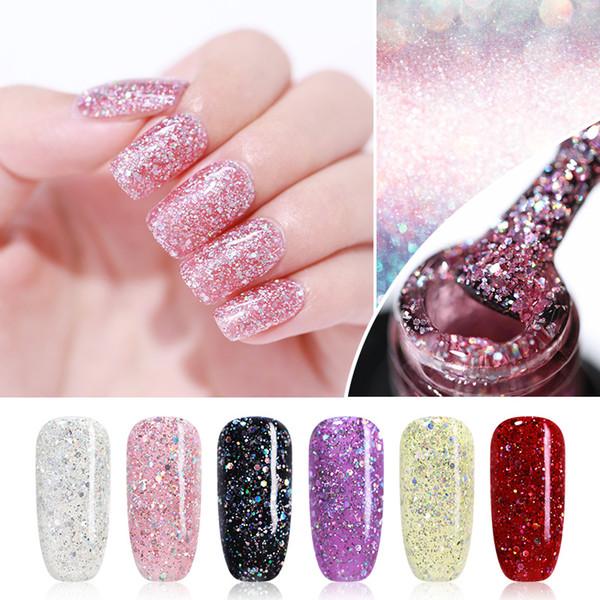 UR SUGAR 7.5ml Flashing Glitter Soak Off UV Holographic Diamond Gel Polish Rainbow Neon Sequins Varnish Gel Nail Art Lacquer
