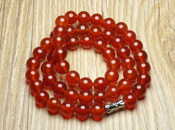 Natural red agate beads necklace with free shipping B1