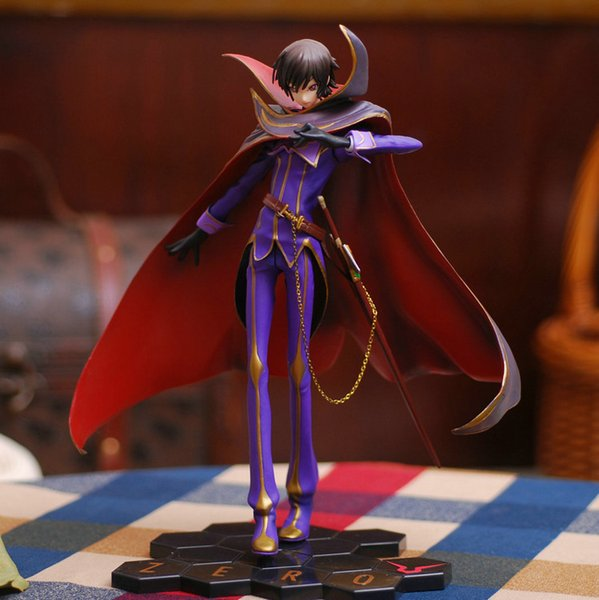 25cm Code Geass R2 Lelouch Lamperouge Zero Action Figures PVC brinquedos Collection Figures toys for christmas gift
