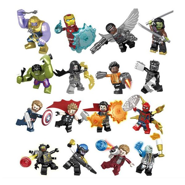 Marvel building blocks Sets Avengers Infinity War Mini Super Hero Superhero Thor Hulk Captain America Figures Building Blocks Toys 16pcs/lot