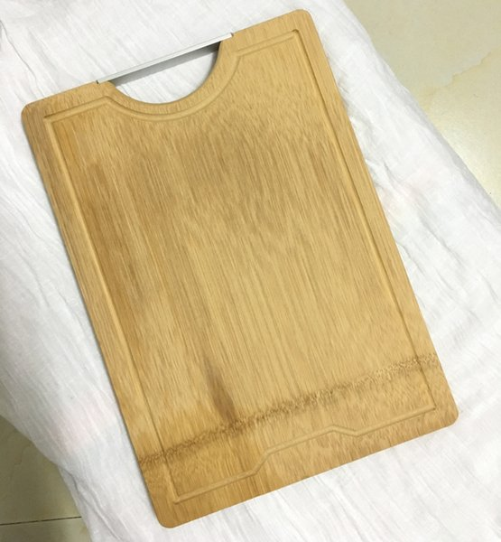 Thick Strong natural bamboo chopping blocks - 34cm x 24cm x 1.8cm Cutting Boards Bread Fruit Vegetables meat chopping board