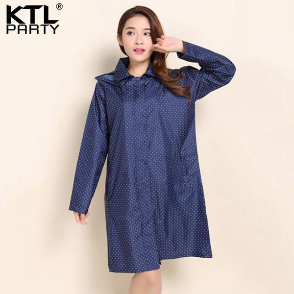 KTLPARTY Womens Fashion raincoats poncho female outdoor travel rainwear lady waterproof sunscreen walking overcoats