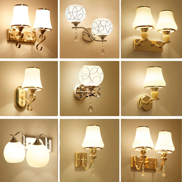 Glass Sconces Reading Lamps Wall Mounted 110V-220V Crystal Sconce Led Wall Lamp Bedroom Wall Lighting Contemporary