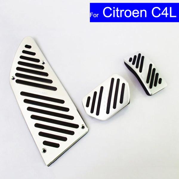Car Aluminium Alloy Petrol Clutch Fuel Brake Pad Foot Pedals Rest Plate for Citroen C3-XR C4L C-Quatre C5 Pedals Auto