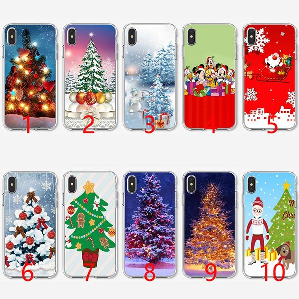 New Year Gifts Christmas Tree Soft Silicone TPU Phone Case for iPhone 5 5S SE 6 6S 7 8 Plus X XR XS Max Cover