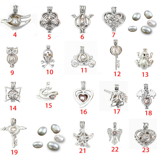 best selling Fashion Jewelry Silver Pearl Cage Jewelry Locket Pendant Findings Cage Essential Oil Diffuser Locket For Oyster Pearl