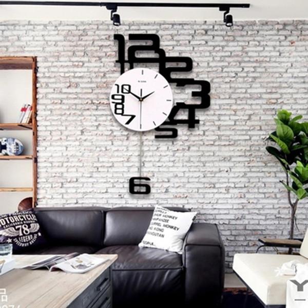 Großhandel Stille Kunst Uhren Wohnzimmer Schlafzimmer Nordic Decor Mode  Wanduhren Modern Decoracion Hogar Uhren Modernes Design 50WC186 Von  Aprilgao, ...