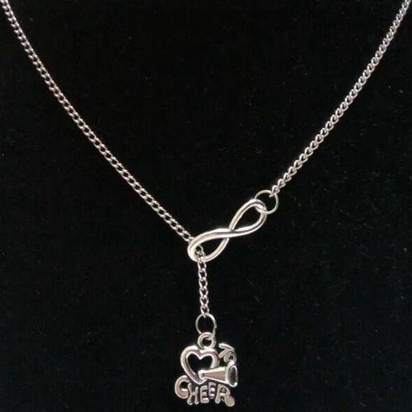 lucky 8Wish Bone / Irish Claddagh / Cheerleading evviva Speaker Cuore / Matryoshka Russo Doll charm catena maglione collana FAI DA TE gioielli Delle Donne