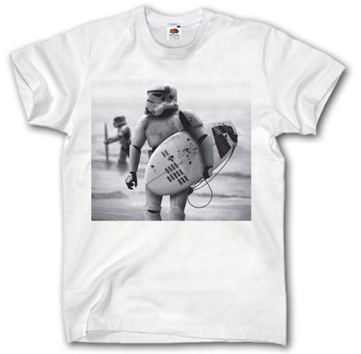Üst tee Sörf Tişört S-XXXL StormTrooper Darth Vader vintage tarzı komik