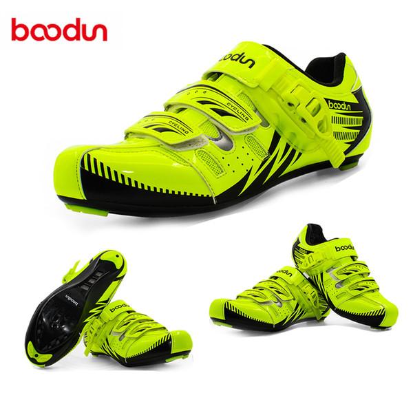 BOODUN Road Racing Chaussures Chaussures De Cyclisme Sur Route Hommes Réfléchissant Sport En Plein Air Vélo Auto-Locking Zapatillas Ciclismo