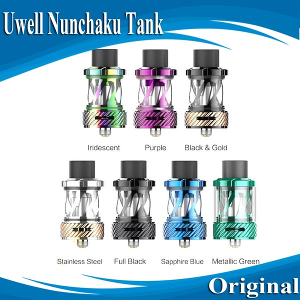 Original Uwell Nunchaku Tank Atomizer with 5ml e-Juice Capacity Plug-Pull Coils Separate Condensation Holder E Cig DHL Free