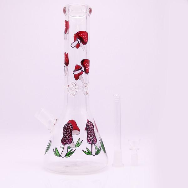Newest 12.9 Inch Glass Mushroom Bong Water Pipes Beaker Base Bong 7mm Thick Glass Bongs Oil Rig Dab Bongs Free Shipping