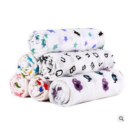 Blankets Kids Fox Muslin Cotton Giraffe Patterns Girls Boys Clothes Newborn Swaddle Muslin Infant Towel Baby Wrap