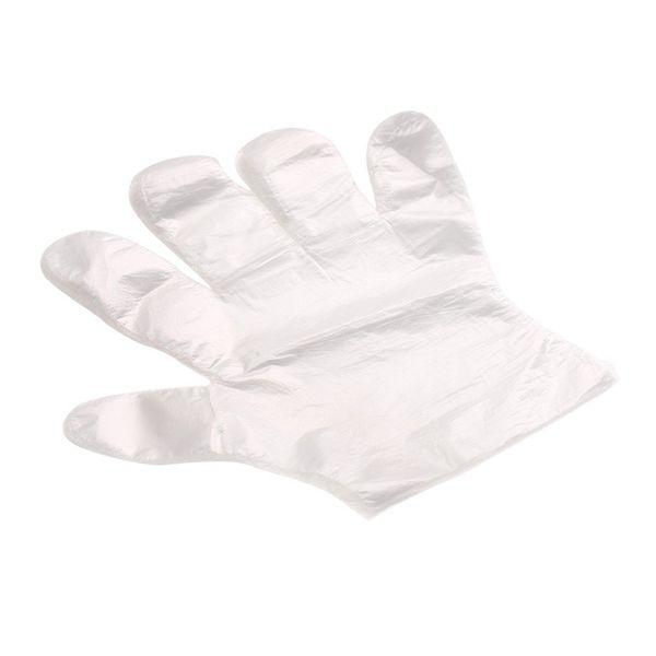 100 pezzi / set guanti monouso in plastica monouso ecologici per alimenti / pulizia / cottura accessori per cucine
