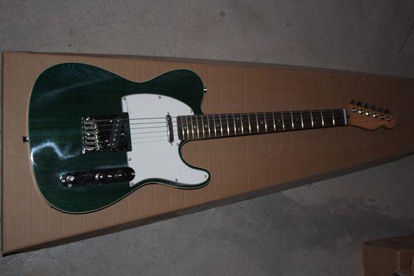 Livraison Gratuite en gros de haute qualité Nouveau Variegated vert foncé Guitares Guitare Électrique en stock