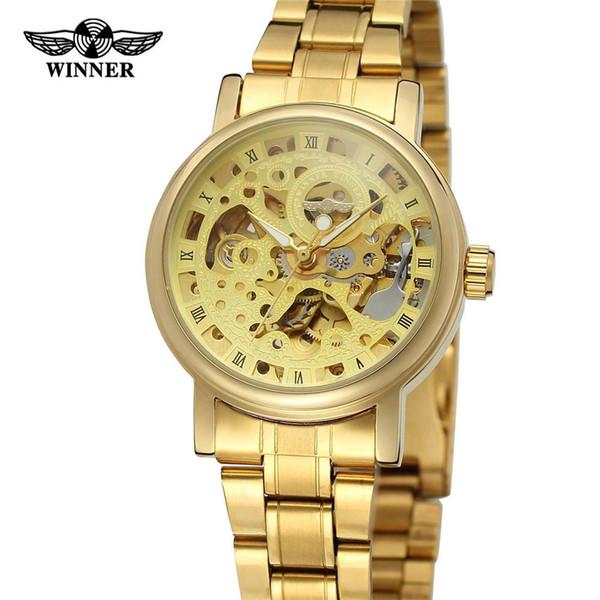 8adbca27022 VENCEDOR Mulheres Relógio Mecânico Automático Senhora Relógios Top Marca de  Luxo Clássico Moda Esqueleto de Aço