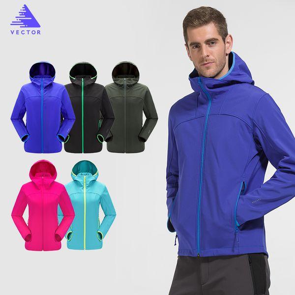 VECTOR Softshell Jacket Men Windproof Waterproof Outdoor Jacket Male Camping Hiking Jackets Rain Windstopper Windbreaker HMM6003