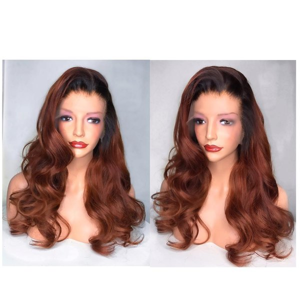 Affordable sexy 100% unprocessed raw virgin remy human hair long ombre color big curly full lace cap wig for women