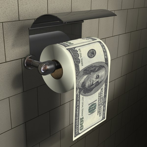 best selling 3Pieces Funny Toilet Roll Paper One Hundred Dollar Bill Toilet Paper Home Gag Gift