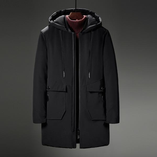 Loldeal hochwertiger Parka Herren Winter Lange Jacke Dicke Baumwolle gefütterte Parka Mantel Mode Lässig Extra großer Code 8XL
