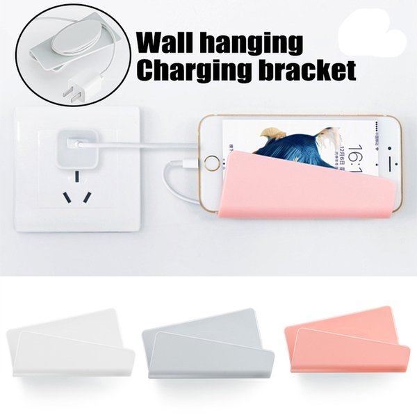 Mobile Phone Wall Charger Hanging Holder Stand Bracket Support Charge Hanger Rack Shelf Cell Phone Hook with Retail Package