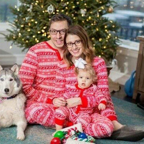 Compre Pijamas De La Familia A Juego Otono Invierno Calido Navidad