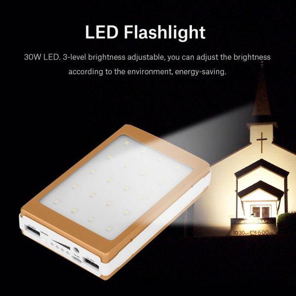 top popular 20000mAh Portable Solar Power Bank Case DIY Kit Dual USB Battery Charger w  Flashlight 2021