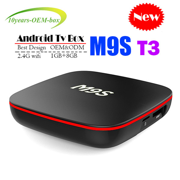 New M9S T3 Allwinner H3 Android TV Box 1GB 8GB Quad Core 100M Lan 2.4G WiFi 4K VP9 HDR10 IPTV Android Smart media player BETTER H96 T95Z T95