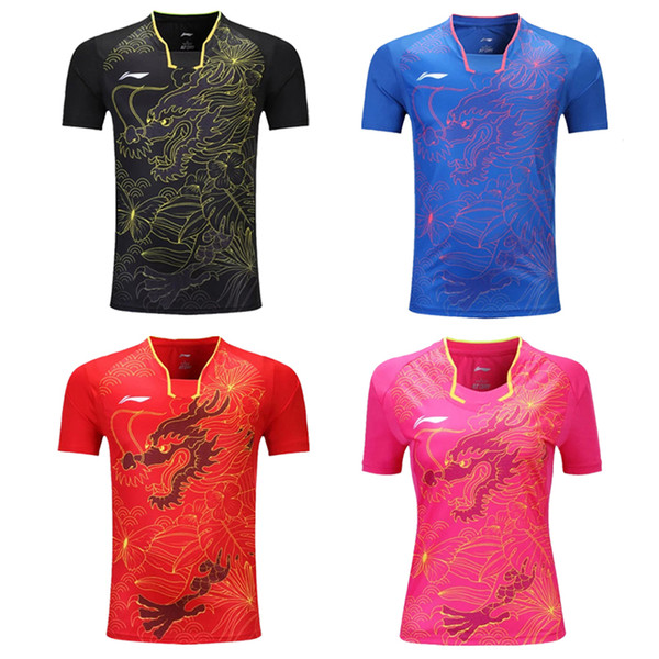 top popular Hot, new table tennis Jersey, male   female tennis T-shirt, short sleeved sweatshirt, breathable suit, free shipping. 2020