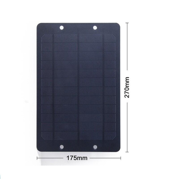 6V 6W Mini monocrystalline PET Solar Panel Small Solar Cell Battery Bicycle Sharing Share DIY Solar Charger 270*175*2MM Free Shipping